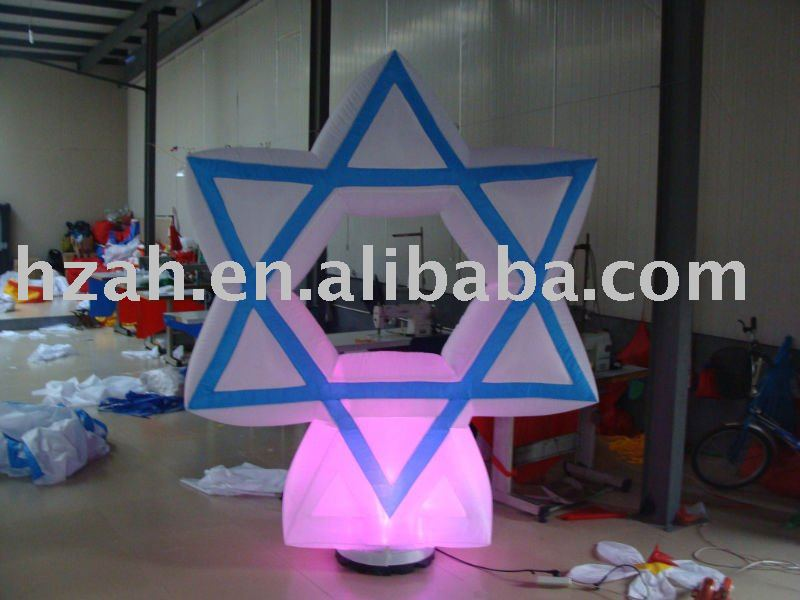 inflatable lighted star party decor with air blower party decor inflatable rose flower with light