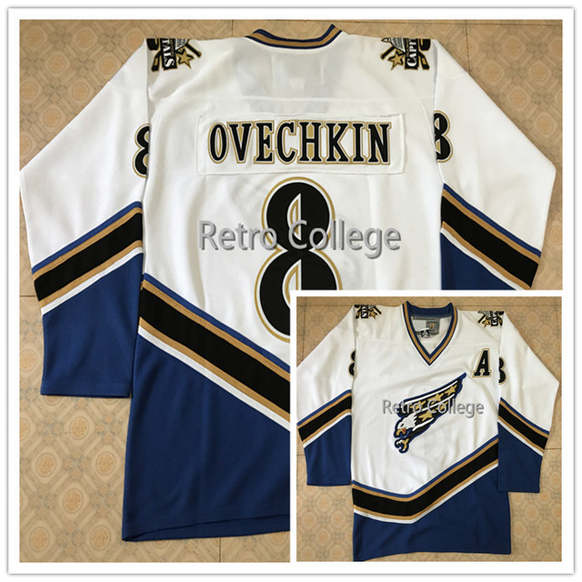 b5eb9e764 8 Alex Ovechkin Washington CAPITALS Vintage Starter Throwback MEN'S Hockey  Jersey Embroidery Stitched any number and name