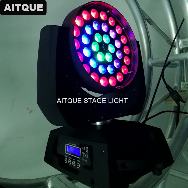 8 шт./партия, светодиодный проектор для мытья, 36x10 Вт, rgbw, круг, движущийся, для мытья головы, зум свет, 36x10, копия robin robe, 600 led wash