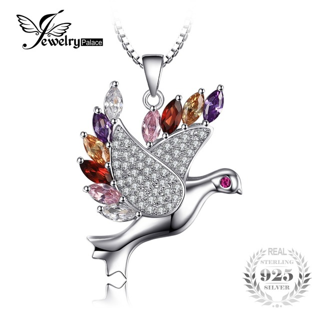 Jewelrypalace feather peace dove pendant 925 sterling silver pendant jewelrypalace feather peace dove pendant 925 sterling silver pendant for women fashion vintage party fine jewelry aloadofball Choice Image