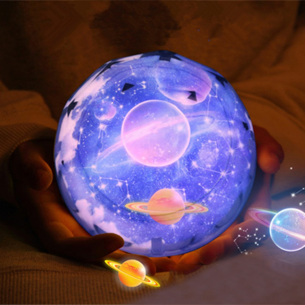 Star Sky Galaxy Projector Lamp Planet Rotating Led Night