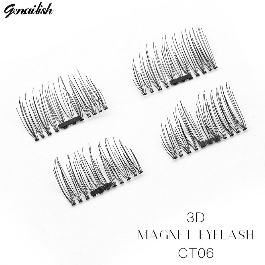Genailish 6d Pleine Longs Magnétiques Cils Naturels Faux Y6bgIfv7y