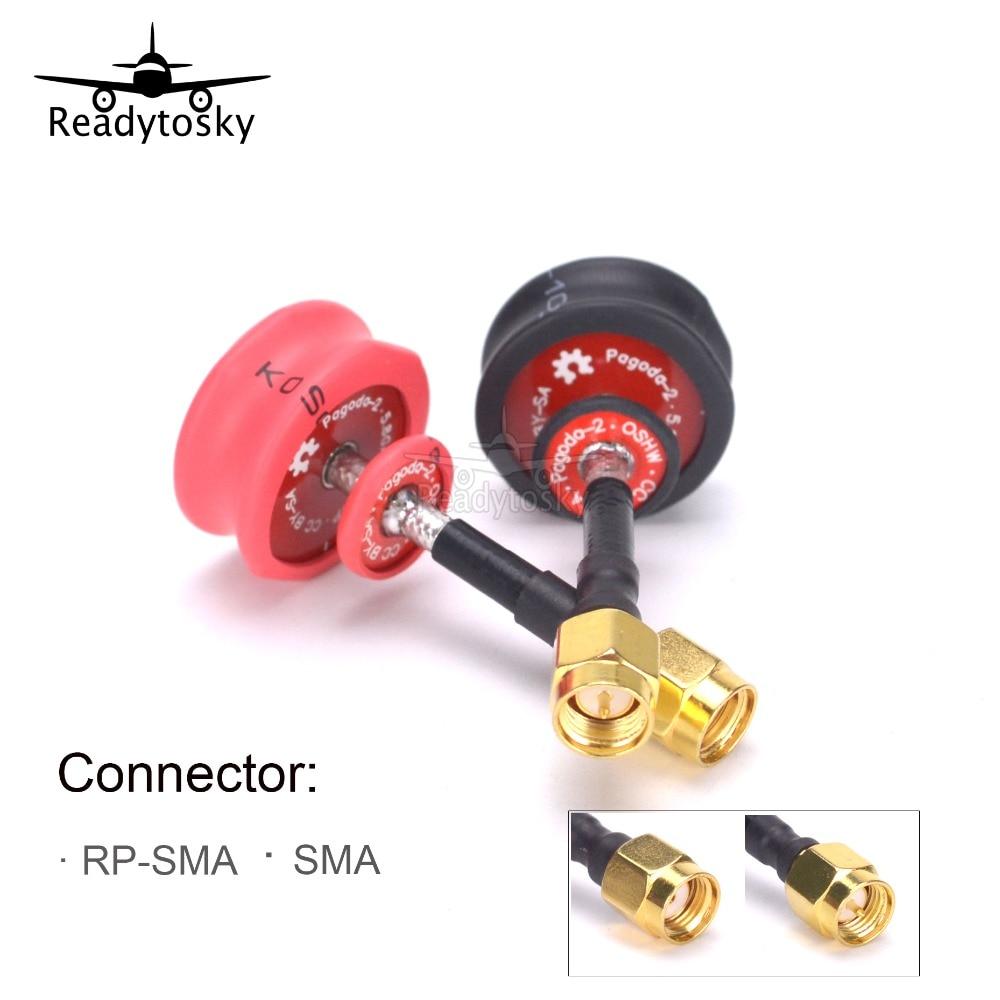 2 pcs Pagode 2 pagoda-2 5.8 GHz FPV Antenne SMA et RP-SMA Plug Connecteur pour RC FPV Racing Drone Quadcopter