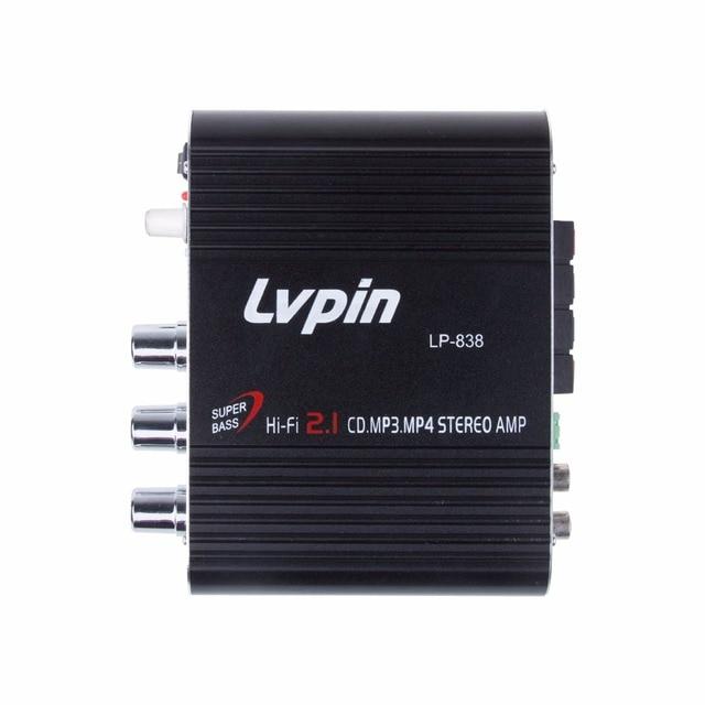 Car Amplifier 12V Mini Hi-Fi Amplifier Subwoofer Booster Radio MP3 2 Channel Stereo for Car Motorcycle caixa de som amplificada 1