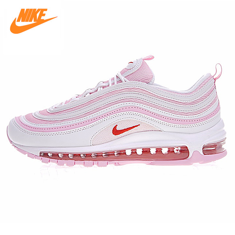 Nike AIR MAX 97 OG Woman Cherry Powder Bullet Full Palm Cushion Running Shoes,Original Women Sport Shoes 313054-161 movie the little mermaid princess ariel costume women ariel fancy dress cosplay dress