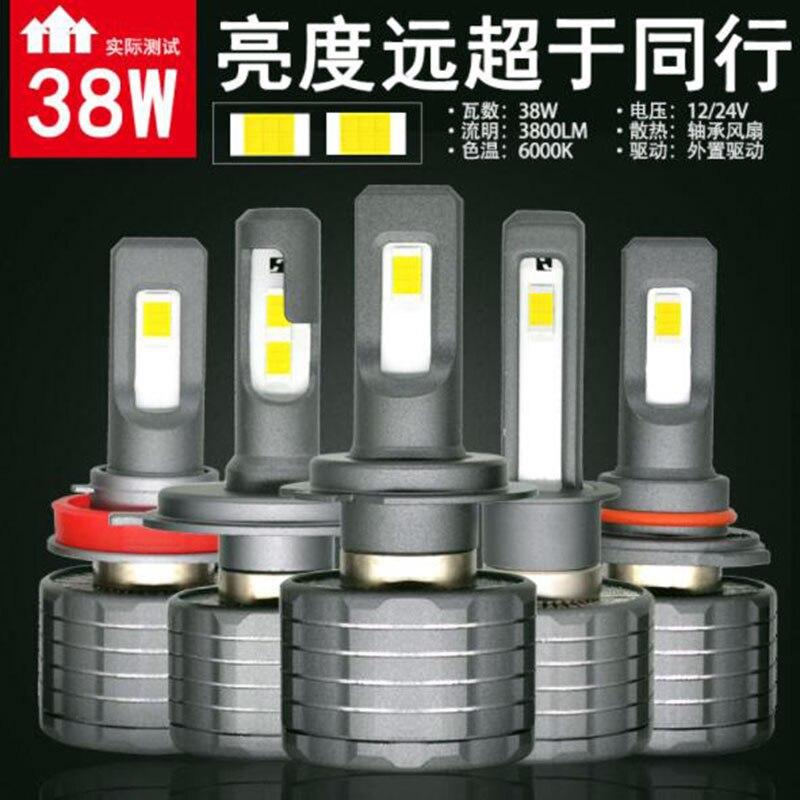 SUNYDEAL LED Headlight Car Accessories LED Fog Light 9600LM Hi/Lo Beam H4 H1 H7 Auto Led Head light Car Lamps Mini8 COB Bulbs - 5