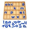 Деревянный подвижный алфавит Монтессори с коробкой для детских настольных игрушек в подарок