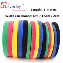 5 Meters/roll magic tape nylon cable ties Width 1 cm wire management cable ties 6 colors to choose from DIY Velcro недорого