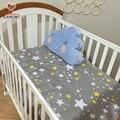 KAMIMI 130*70 cm bonito Do Bebê fundamento do bebê berço cama definir 100% lençóis de algodão 4 cor para meninos meninas I044