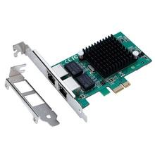 Новый Intel82575 Сервер Чипсет Gigabit PCI-Express PCI-e Сетевая Карта 1000 М Двойной Порт RJ45 NIC Адаптер