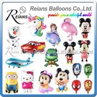 50pcs/lot REIANS Cartoon Hello Kitty Mickey Minnie Foil Balloon Cartoon Wedding Birthday Party Decoration Inflatable Air Balloon