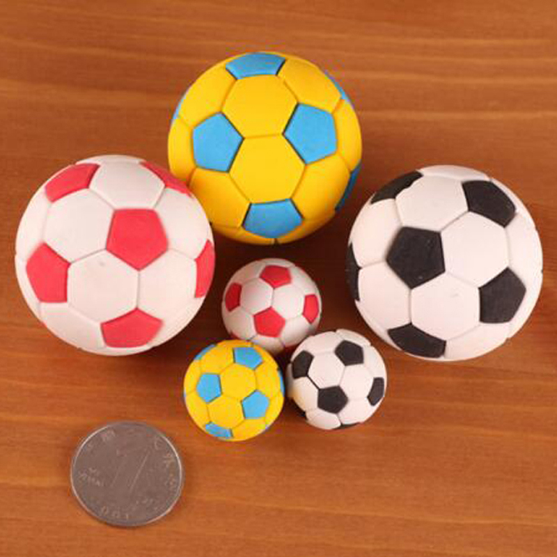 10 Pieces Football Shape Eraser School Supplies Rubbers Kids Stationary Student Learning Office Supplies Material Escolar