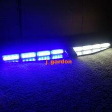 2-16 LED 96 Вт Синий/Белый Световой Автомобилей Грузовик Аварийная Beacon LightBar Эксклюзивный Сплит Козырек Палуба Даш Предупреждающий Световой строб