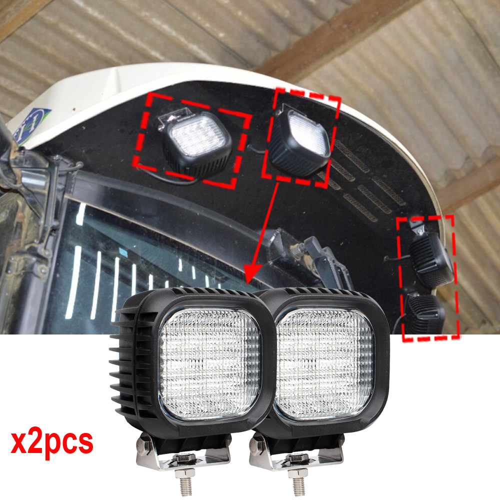 5 Inch 48W 12V 24V LED Work Light Spot/Flood LED Offroad Light Lamp Worklight for Off road ATV Motorcycle Car Truck x2pcs/lots fochutech flood 2pcs 4inch 27w led worklight light lamp off road 27w led work light 12v car led pickup truck work lights 24v