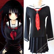 Anime japonés Jigoku Shoujo Hell Girl Enma ai Cosplay Uniforme Escolar Traje tops + falda
