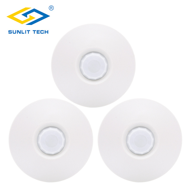 3pcs/Lot Wired 360 Degree Ceiling Mounted PIR Sensor Infrared Indoor Motion Detector for Burglar Alarm Home Security System