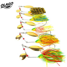 Spinner bait Metal Sequins Lures Silicone Skirt Jig Fishing Lure Wobbler Spinner Beard Tackle Multi-colored 5 Style For Fishing