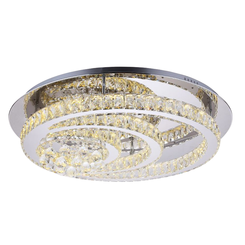 Luxury LED Modern Crystal Ceiling Lamp For Living Room Diameter 80cm Round Crystal Lighting Fixture For Bedroom Guaranteed 100%
