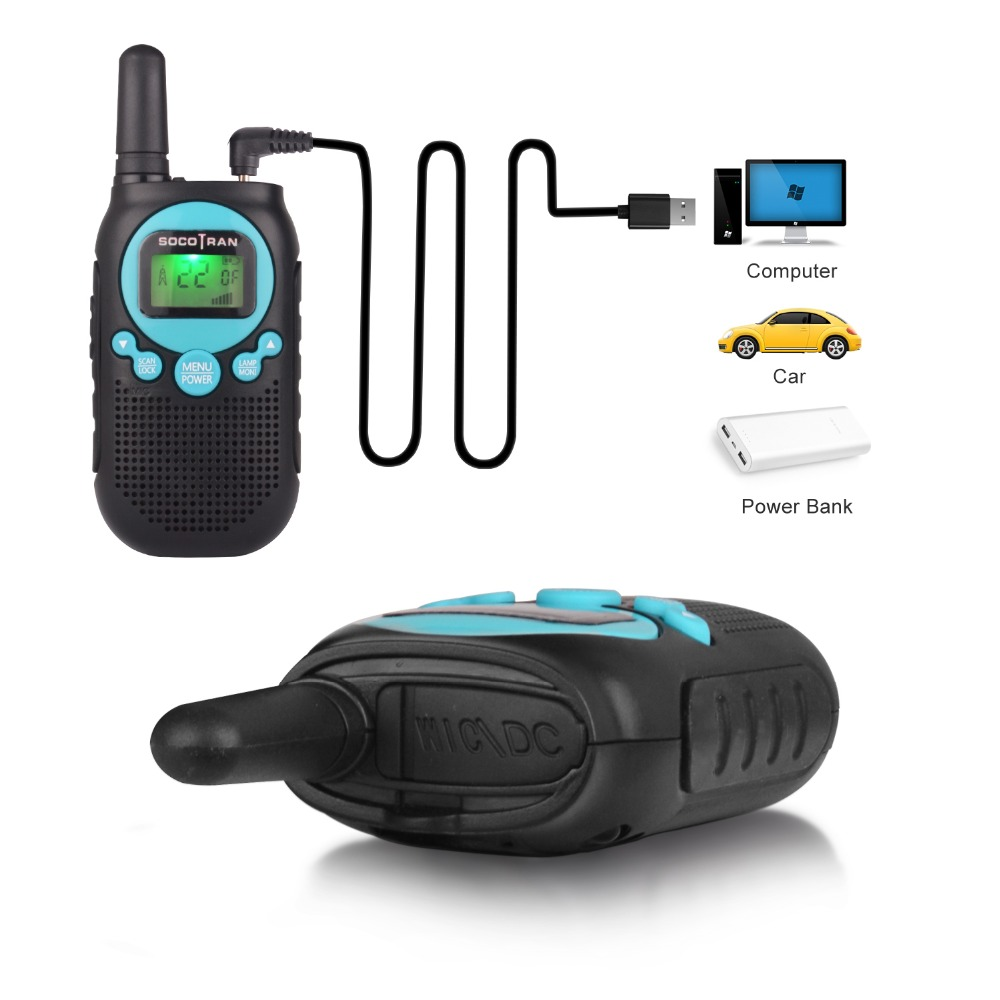 US CA MX license free walkie talke FRS GMRS two way radio 0 5W 22CH VOX Radio with privacy code rechargeable battery in Walkie Talkie from Cellphones Telecommunications