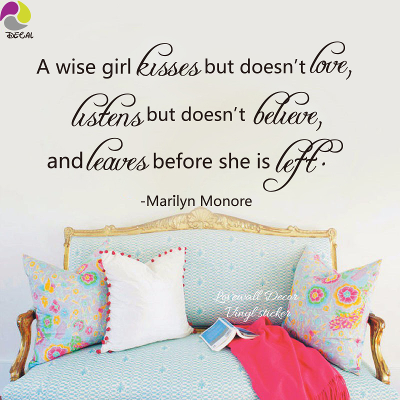 Marilyn Monroe Love Quote Wall Sticker A wise girl love ...