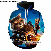 PLstar Cosmos Guardians Of The Galaxy Print 3d Hoodies Men Women Sweatshirt Hooded Pullover Tracksuit Size