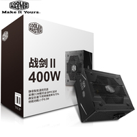 Cooler Master PC PSU Computer Power Supply Rated 400W 400 Watt 12cm Fan 12V ATX PC Power Supply PFC Actice For Game Office