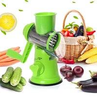 Manual Graters Vegetable Cutter Slicer Kitchen Accessories Multifunctional Round Mandoline Slicer Potato Cheese Kitchen Gadgets