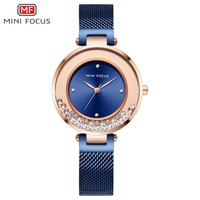 MINI FOCUS New Women Watches Top Brand Luxury 2019 Fashion Waterproof Rose Gold Watch Ladies Stainless Steel Relogio Feminino