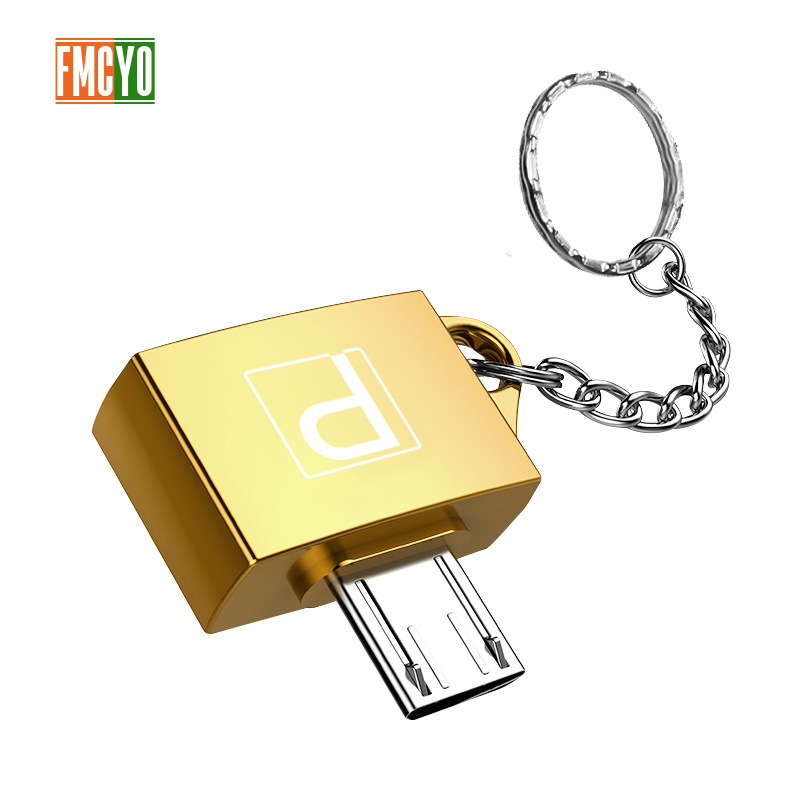 Otg Android Micro Mobile Phone Tablet U Disk Connection Usb Card Reader Light Hanging Chain Adapter-in Card Readers from Computer & Office