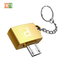 Otg Android Micro Mobile Phone Tablet U Disk Connection Usb Card Reader Light Hanging Chain Adapter