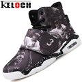 Keloch 2016 Пара Баскетбол Обувь Мужская одежда Женская Спортивные Кроссовки Высокий Верх Холст Обувь мужская Шнуровке Удобные Баскетбол сапоги