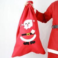 2pcs Christmas Santa Presents Sack Stocking Bag Xmas XLarge 75x48cm Party Decor