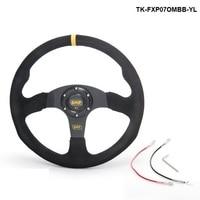 Pivot 14 Inch 350mm Racing Car OM Racing Car Steering Wheel Suede Leather Drifting Steering Wheels