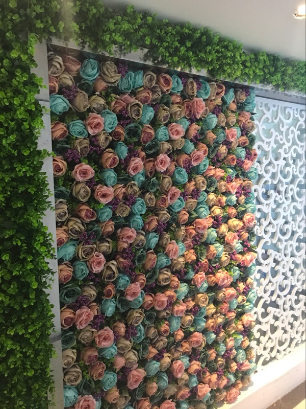 2.4M x 2.4M Wedding Roses Flower Wall Flower Backdrop with aluminium pipe stand Wedding Decoration