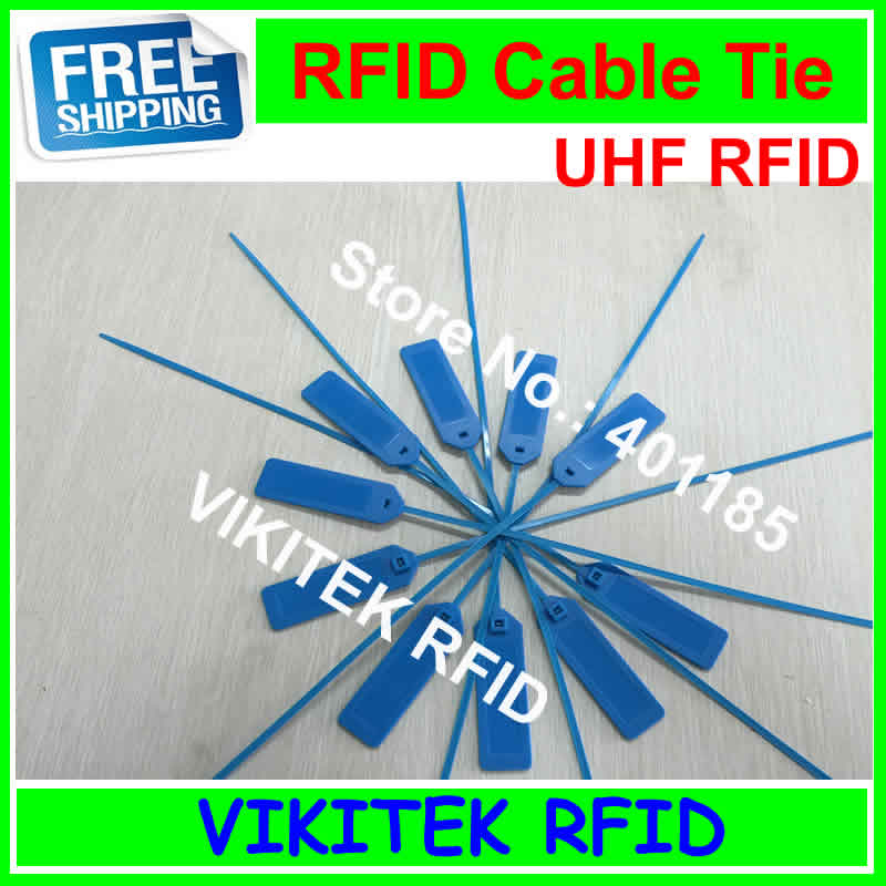 Alien authoried 9662 UHF RFID ABS cable Tie tag 860-960MHZ Higgs3 915M EPC C1G2 ISO18000-6C  10pcs 92*28*3.5mm 860 960mhz abs rfid uhf anti metal tag with alien h3 chip read range 0 8m for warehouse management