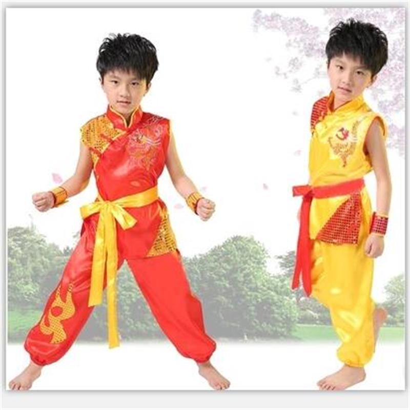 New Children Wushu Costume New Youth Short Sleeved Clothes And Tai Chi Students Kung Fu Performance Clothing