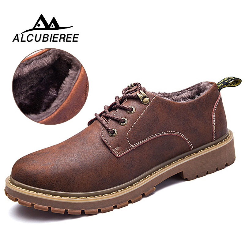 Basic Boots Fashion Super Warm Men Mart Boots Leather High Top Ankle Boots Couples Winter Casual Rubber Snow Boots Men Leisure Shoes