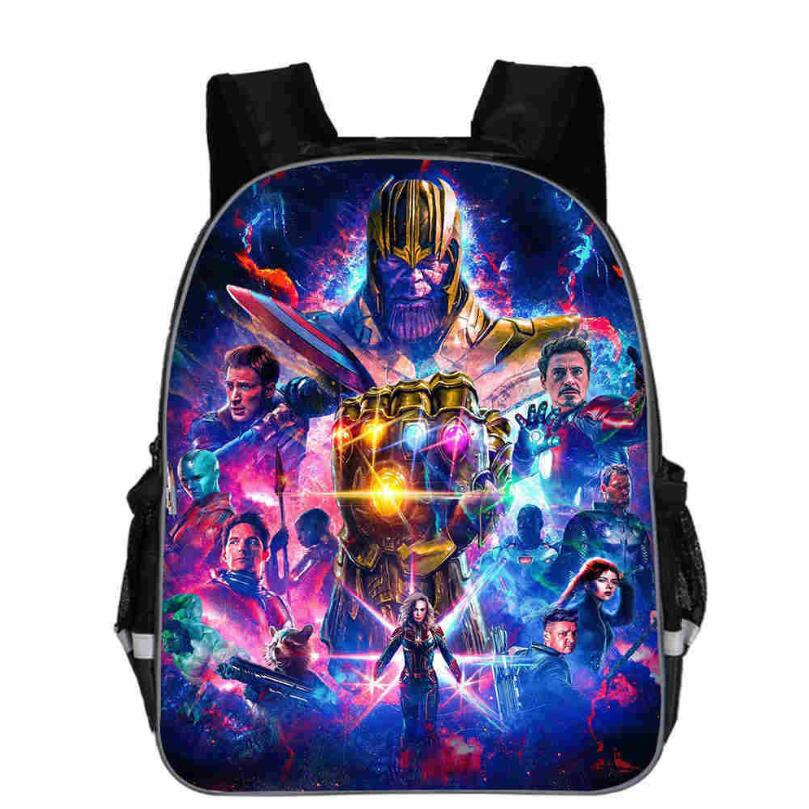 Avengers Infinity War Backpack Thanos Printing Cartoon Children School Bags Boys Teenage Mochila