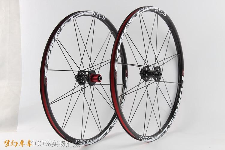 RT MTB Mountain Bike Bicycle Six Star Style  5 sealed bearings carbon fiber hub super smooth wheels wheelset 26 27.5 Rim Rims