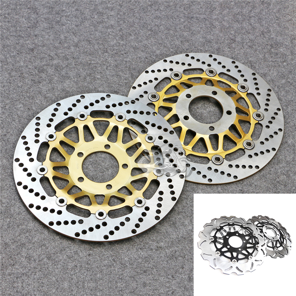 Floating Front Brake Disc Rotor For Motorcycle Suzuki RG125 Gamma & Bandit GSF250 GJ77A RGV250 GSX-R400 GK76A New 310mm motorcycle front wavy floating brake disc rotor for suzuki gsf bandit 1250 07 15 gsx1250 10 15 b king 1300 08 11 gsx1300