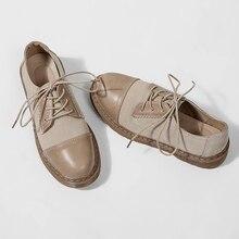 Купить с кэшбэком 2019 women's new small shoes women's retro British style versatile studen port style flat shoes Flock Yasilaiya