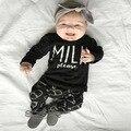 Baby girl boy clothing set roupas de bebe long sleeve milk T-shirt+pants Infant bebe girl boy clothes sets toddler cloth boy NEW