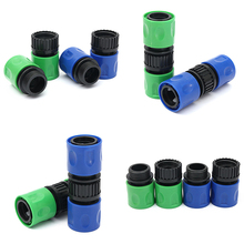 цена на 3/8 Male Female Quick Connector Garden Straight Pneumatic Connector Water Hose Pipe Tap Fitting Adaptor  Garden Supplies