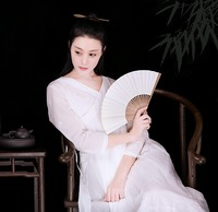 Lynette 'sシノワズリー春秋オリジナルデザイン女性刺繍シルク綿中国の改良ハンfuのドレス