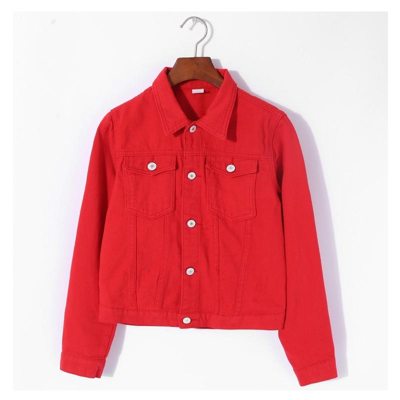 Fashion Jeans Jacket Women Autumn Long Sleeve Stretch