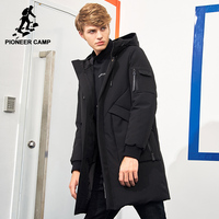 Pioneer Camp Waterproof Material Thick Down Winter Jacket Men Brand Clothing Fashion Hooded Warm Duck Down