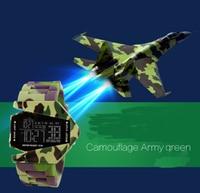 Mens' Boys Army Camouflage Sport Wristwatch Wrist Watch LED Digital Wristwatches Children Gifts