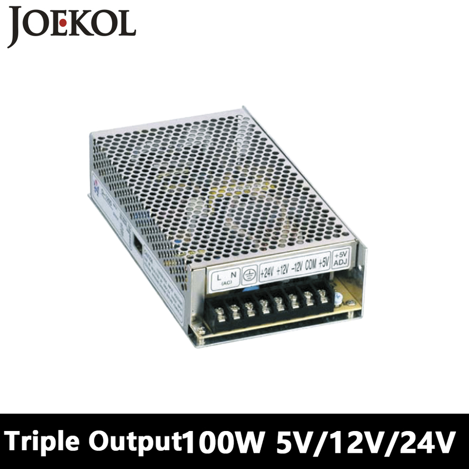 Triple output DC power supply 100W 5V 12V 24V,smps power supply for led driver,AC110V/220V Transformer to DC 5V 12V 24V s 100 12 100w 12v 8 5a single output ac dc switching power supply for led strip ac110v 220v transformer to dc led driver smps