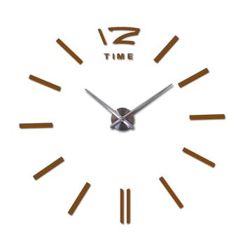 sale wall clock watch clocks 3d diy acrylic mirror stickers Living Room Quartz Needle Europe horloge free shipping 15
