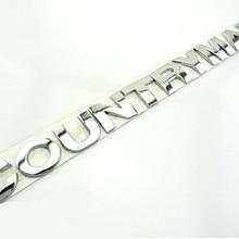 Новинка, эмблема земляка, автомобильный значок, металлическая хромированная наклейка для мини-кантри, 2,5 см, серебристая, 1 комплект